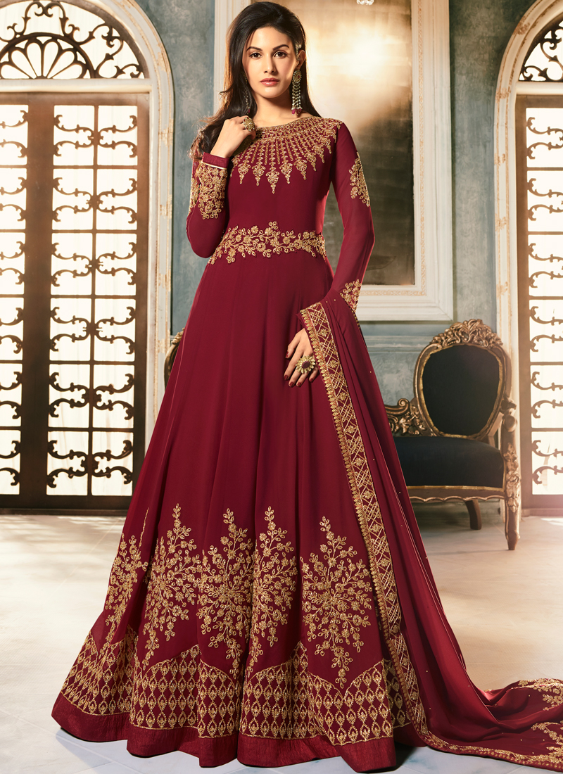 wedding-wear-red-georgette-swarovski-work-anarkali-gowns